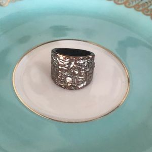 Vintage Chunky Silver and Brass Ring